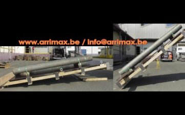 Recherche du coefficient de frottement : arrimax réalise des tests d'inclinaison (voir vidéo jointe).